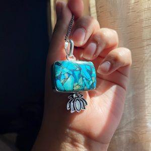 925 Lotus Turquoise Pendant🦋